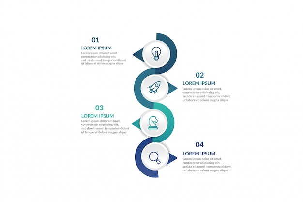 Passo infográfico modelo para apresentação