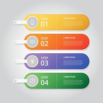 Passo infográfico moderno