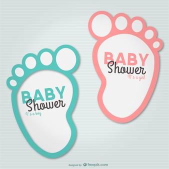 Passos de bebê convite do partido