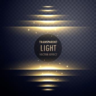 Passos de efeito de luz brilhante com brilhos