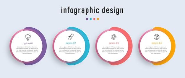 Passos infográficos de negócios premium