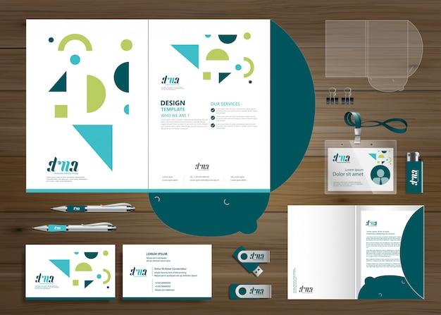 Pasta corporativa de negócios empresa de artigos de papelaria, apresentação