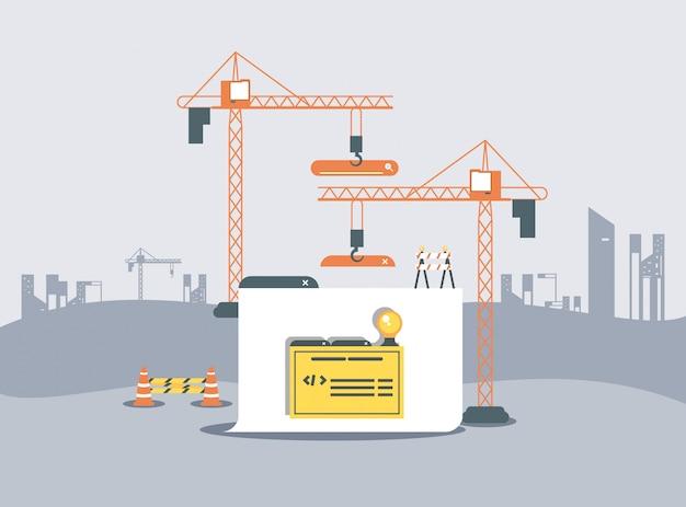 Pasta de dados com página da web em construção