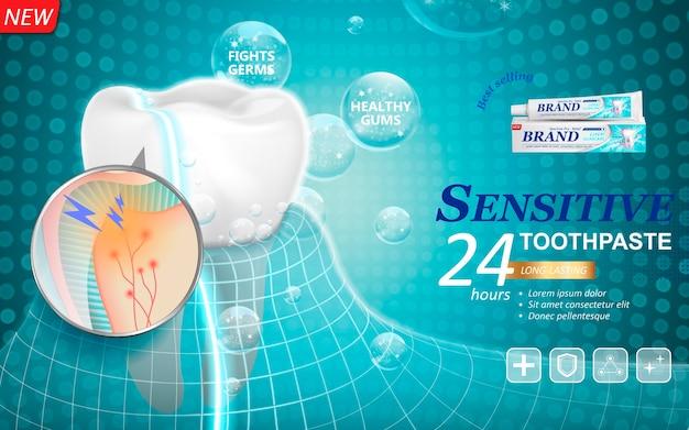 Pasta de dente de longa duração para tratamento dentário
