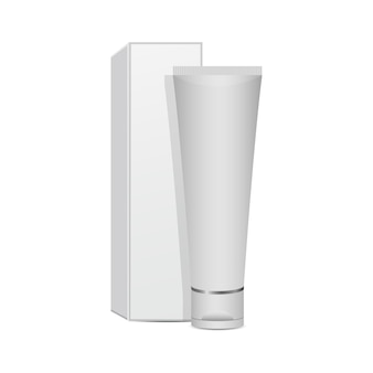 Pasta de dente maquete design ilustração isolada no fundo branco