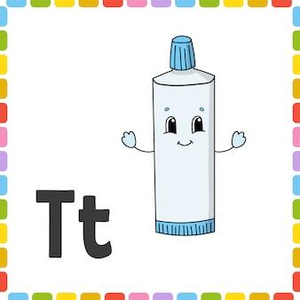Pasta de dentes alfabeto flashcard