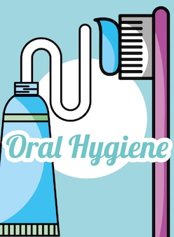 Pasta de dentes e escova de higiene oral