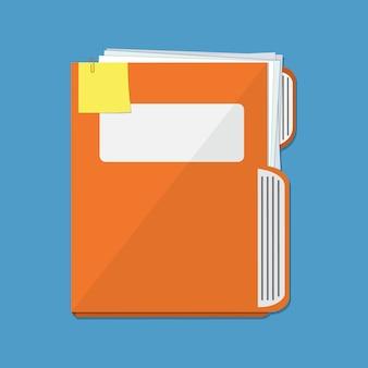 Pasta de documentos laranja
