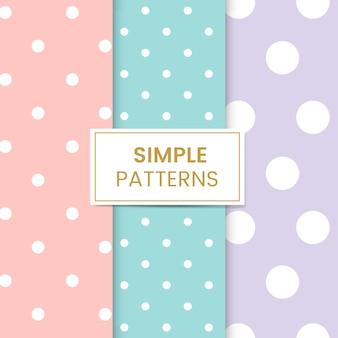Pastel bolinhas sem costura padrão conjunto