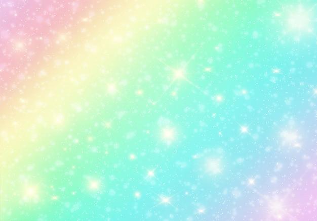 Pastel de arco-íris de bokeh de fundo