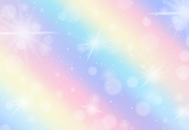 Pastel de arco-íris fundo desfocado