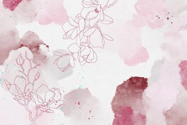Pastel de pó bonito com fundo de elementos de mão desenhada