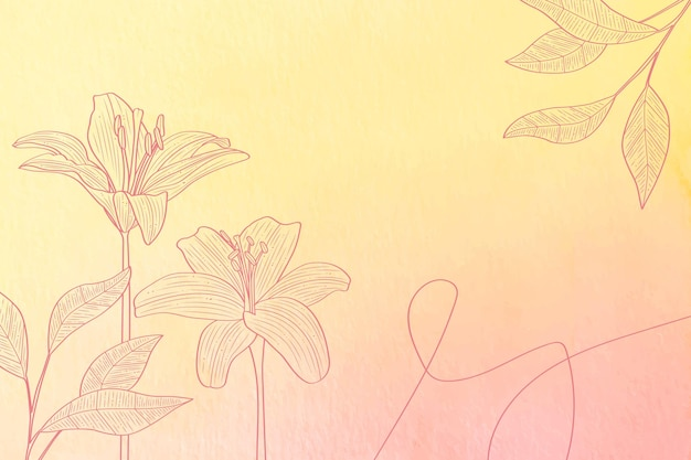 Pastel de pó com elementos de mão desenhada - fundo