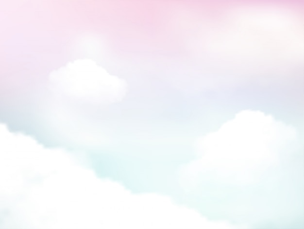 Pastel do céu e da nuvem macia fundo abstrato