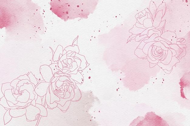 Pastel em pó com mão desenhada elementos papel de parede