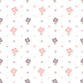 Pastel flores sem costura de fundo
