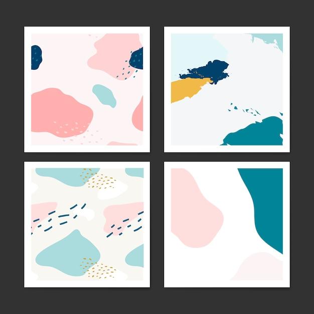 Pastel projeto padrão de memphis vector