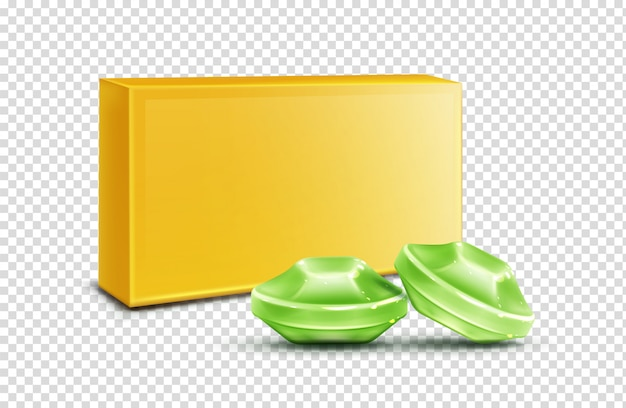 Pastilha para a garganta e tosse verde