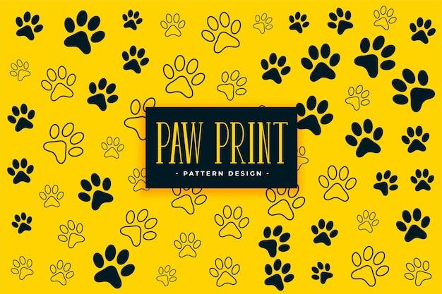 Pata de cachorro ou gato imprime o fundo padrão