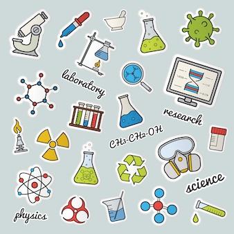 Patches de laboratório químico