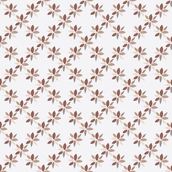 Patern sem costura isolado com mini flores geométricas marrons.