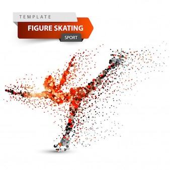 Patinação artística - ilustração do ponto. modelo de esporte.