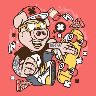 Patinador De Porco