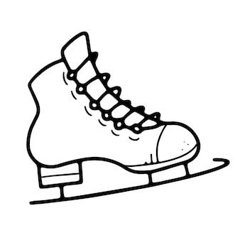 Patins azuis com patins pretos estilo doodle