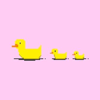 Pato amarelo de 8 bits.