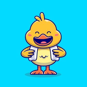 Pato fofo com toalha