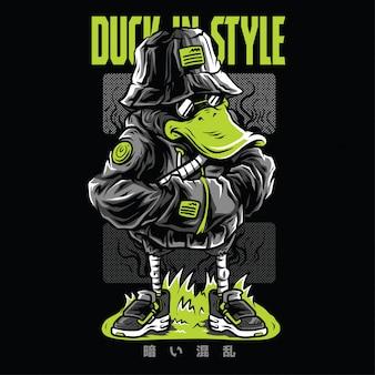 Pato no estilo neon illustration