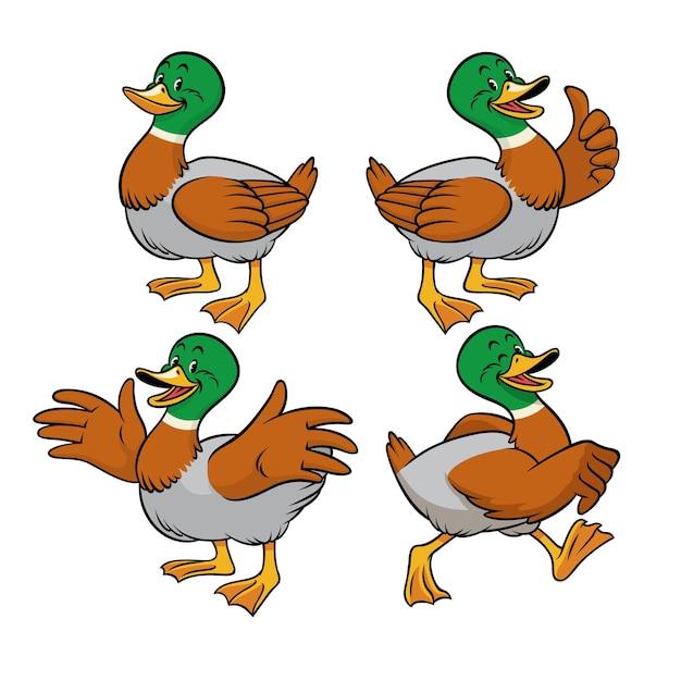 Pato-real com estilo cartoon