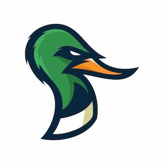 Pato - vetor logo / ícone ilustração mascote