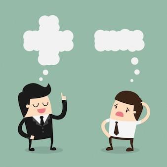 Patrão e empregado falando
