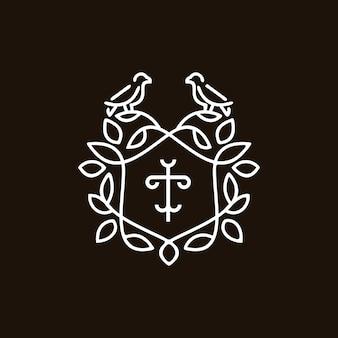 Patrimônio do emblema do pássaro