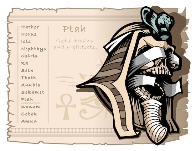Patrono de ptah de artesãos e arquitetos