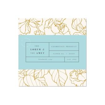 Patten para cosméticos com design de modelo de etiqueta padrão ou papel de embrulho para embalagem