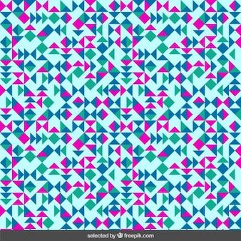 Pattern pouco triângulos em fundo azul claro