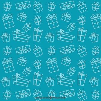Pattern presentes esboçado Vetor grátis