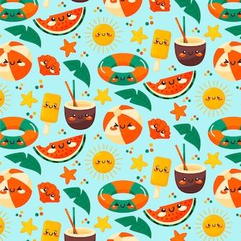 Patterndesign de verão