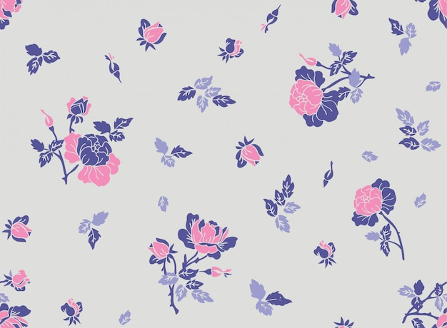 Pattren floral sem emenda com a flor no vetor.