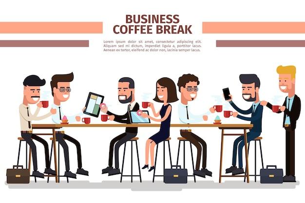 Pausa para o café de negócios