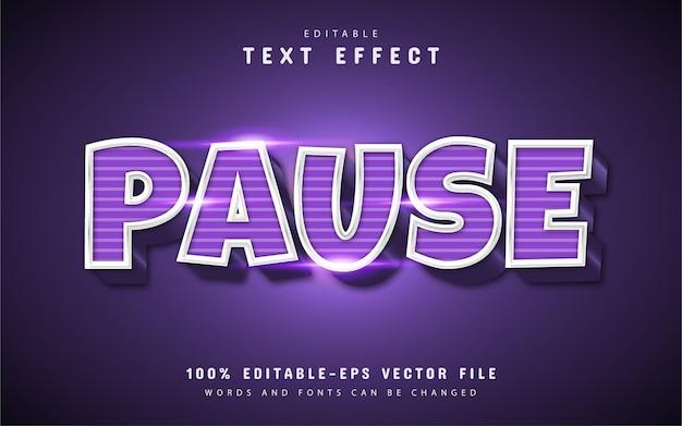 Pausar efeito de texto com padrão de linha