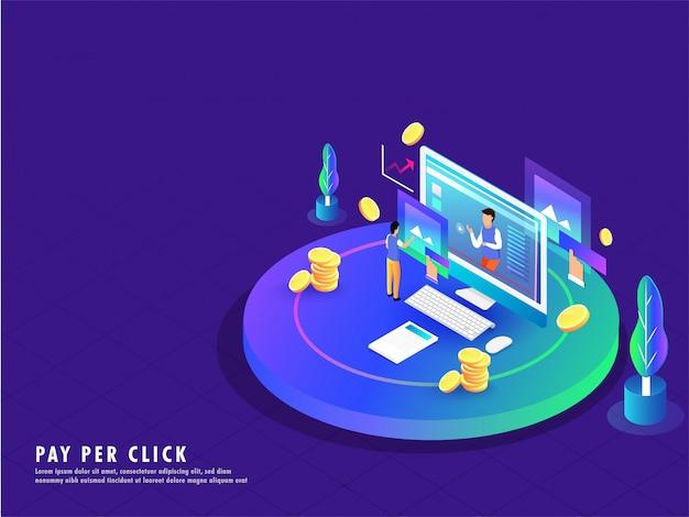 Pay per click conceito.
