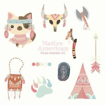 Peach native american cat
