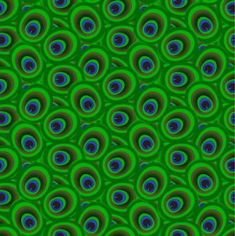 Peacock feathers pattern vector sem costura