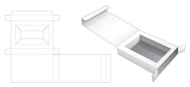 Peça caixa de embalagem de varejo com modelo de suporte de inserção die cut