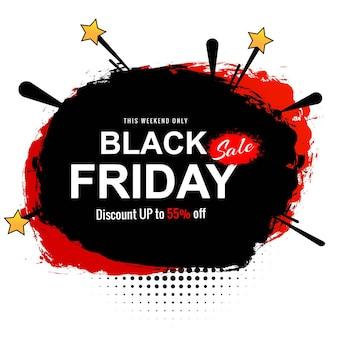 Peça criativa elegante de venda na sexta-feira negra