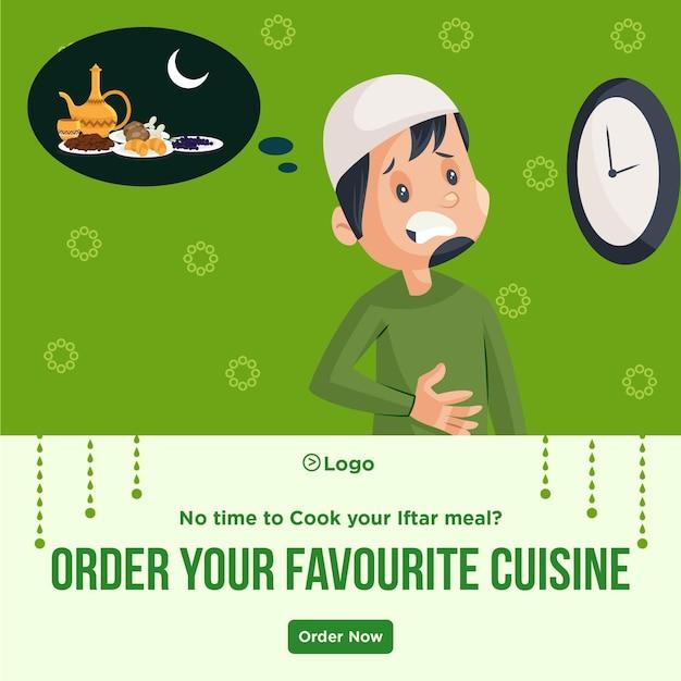 Peça o seu design de banner de cozinha favorito