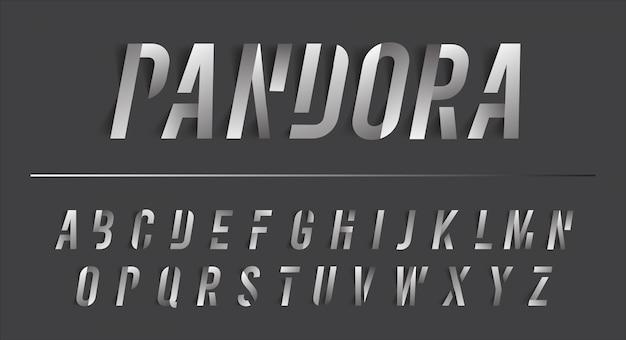 Peças de alfabeto pandora effect moderrn premium